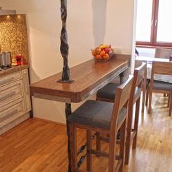 c931dbed23d1 Kovaný rám na barový pult do kuchyne - kovaný nábytok